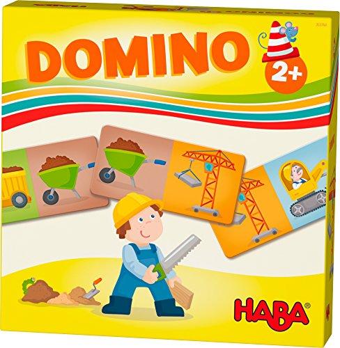 HABA 303764 - HABA-Lieblingsspiele – Domino Baustelle | Dominospiel mit 15 Dominosteinen aus Pappe | Bunte Baustellenmotive zum Benennen und Kombinieren | Spielzeug ab 2 Jahren