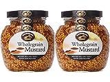 Lakeshore Plain Wholegrain Irish Mustard, 2 jar pack, 7.2oz each