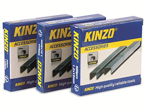 Kinzo 72181Agraffe, 3x 500Teile