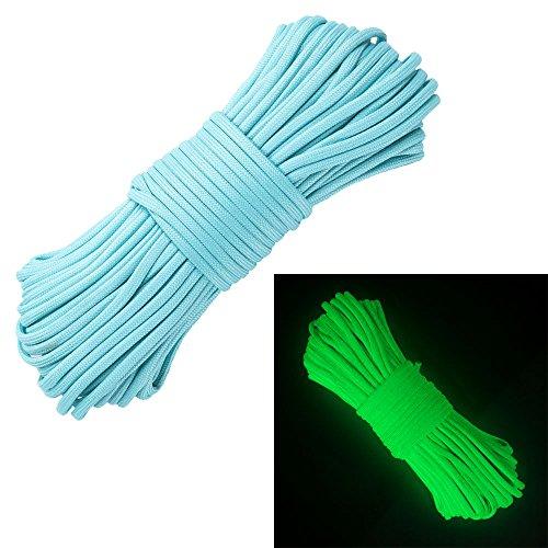 Best Price! Glow in The Dark Zesty 21 Strand 550 Luminous Paracord Parachute Rope Cord