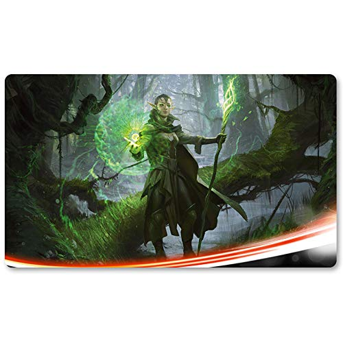 Nissa Sage Animis - Playmat, MTG Playmat,Magic Gathering Playmats, Board Games Anime playmat,Custom Table Pad, Free Waterproof Bag,Playmats for Yu-Gi-Oh Digimon MTG, Size 60350.2CM