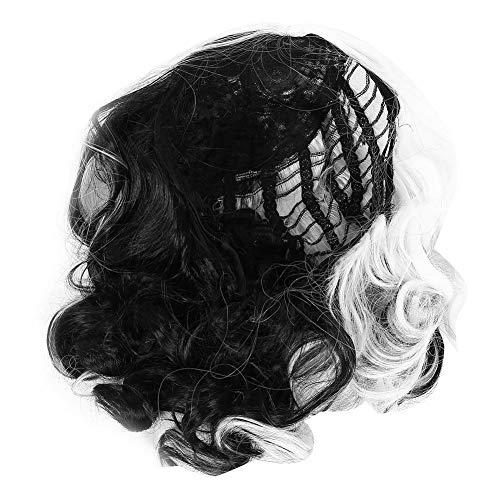 Peluca corta ondulada completa, suave, pelo sintético sintético para carnaval para cosplay para mujeres