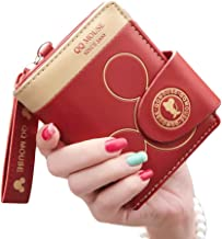 Loodial Girls Wallet Cartoon Mouse PU Leather Coin Purses Women Credit Card Holders