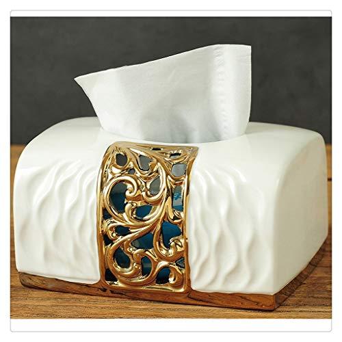 DFSDG Caja de Almacenamiento de Caja de Tejido Cuadrado Creativo Dispensador de Cajas de Tejido de dispensador Toalla de baño Caja de Toalla de baño Seda Caja de Limpieza (Color : White)