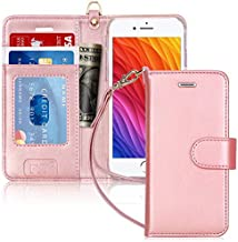 FYY Case for iPhone 7/8/SE 2020, Luxury PU Leather Wallet Phone Case with Card Holder Flip Cover for iPhone 7/iPhone 8/iPhone SE 2020 (2nd Gen) 4.7 inch - Rose Gold