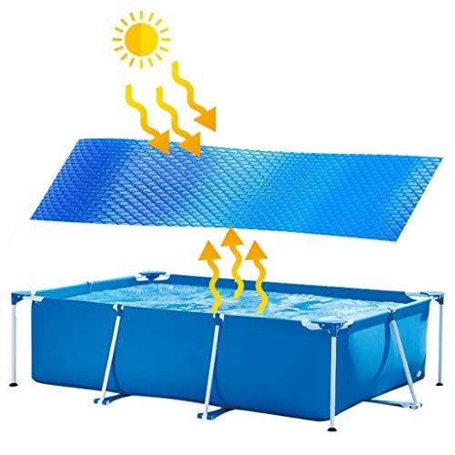 Aomili Swimming Pool Cover Easy Set Pool Cover Solarplane Poolabdeckplane für Frame Pool Solarabdeckplane Soloarfolie mit Einfache Bedienung Größe 1,2X1,5m/1,2x2m/1,2x3m/2.60x 1.6m (2.6MX1.6M)
