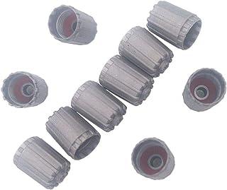 Colore Nero DNZ Set di Tappi Antipolvere per valvole dell/'Aria e Portachiavi per Tutti i Modelli Audi con Logo S Line