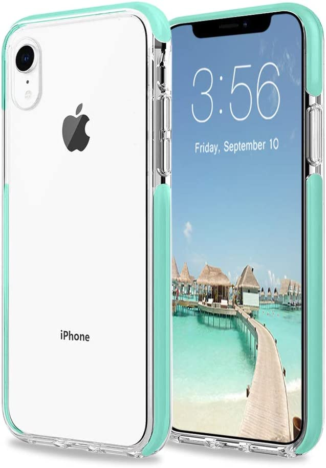 iPhone XR Case, Sunluma Clear Transparent Back Silicone Soft TPU Rubber Bumper Shockproof Anti-Scratch Protection Skin Cover for Apple iPhone XR 6.1inch (2018) (Mint Green)