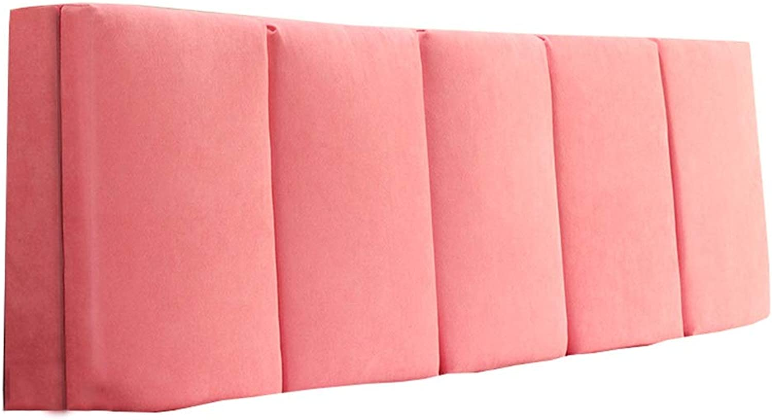 WENZHE Upholstered Fabric Headboard Bedside Cushion Pads Cover Bed Wedges Backrest Waist Pad Cloth Waist Belt Soft Case Home Hotel Backrest Washable, 4 colors (color   A-Pink, Size   120x55x5cm)
