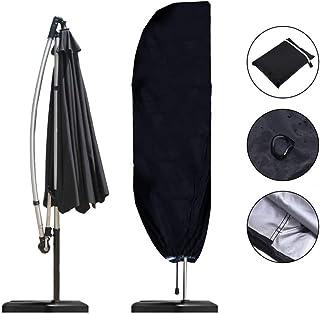 Coperchio di Protezione per tettoia per ombrellone Beige Zwindy Copertura per ombrellone per Esterni Durevole Impermeabile Copertura per ombrellone per Esterni Grigio//Beige