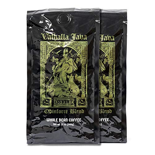 Valhalla Java Whole Bean Coffee Bundle Deal, USDA Certified Organic & Fair Trade (2-Pack) 24oz