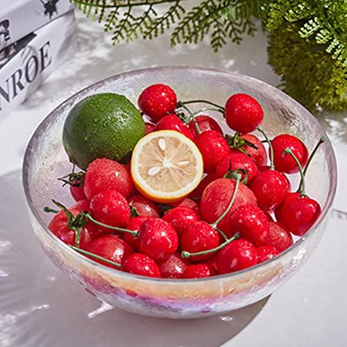 Huis & Keuken Glazen kommen, nieuwigheid creatief onregelmatig bestek, salade fruit groente transparante zoete dessertschotel L