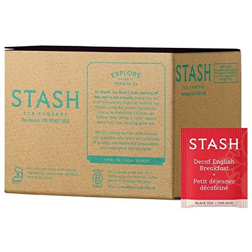 Stash Tea Decaf English Breakfast Black Tea 100 Tea Bags in Foil (Packaging May Vary) Individual Decaffeinated Black Tea Bags for Use in Teapots Mugs or Cups, Brew Hot Tea or Iced Tea