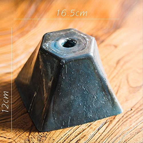 SEHBDY Kaars Houders Handgemaakte Artwork Glas Kandelaar Pendulum Honing Wax Amber Ebony Donker Tide Toren