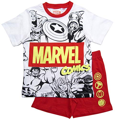 Avengers Schlafanzug Jungen Marvel Shorty Pyjama (116-122)