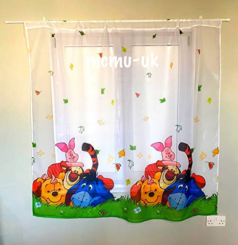 Polontex Gardinen - Winnie The Pooh DA04-300 cm Breite x 150 cm Lange Kinderzimmer Vorhang