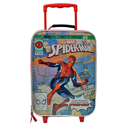 Marvel Comics Spider-Man Soft Side Trolley Kids Luggage Case 16 Inch