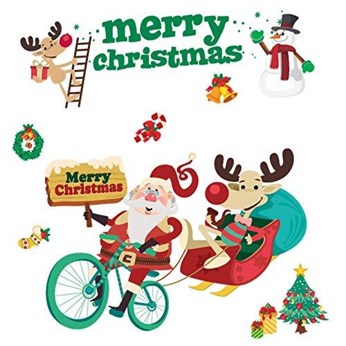 Routinfly DIY decoración de pared creativa, pegatinas de Navidad extraíbles, pegatinas de...