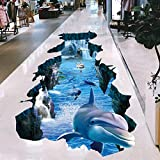 Pegatinas de pared Dolphin Broken Wall Protección visual Impermeable antideslizante Sala de estar Dormitorio Pegatinas de piso