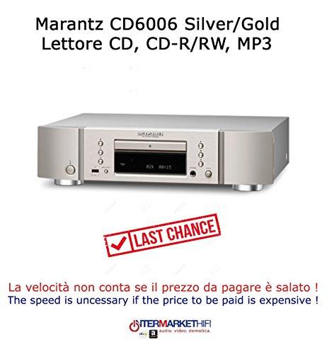 Lettore CD/SACD Marantz CD6006 CD-R/RW,Mp3,WMA,Riproduzione file WAW da ingresso USB-A