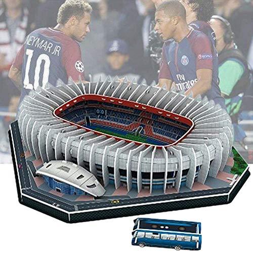 3D-Football-Feld Puzzle, Sport Stadion Modell Puzzle Selbst Assembled Erwachsene Kinder, Prince Park Stadium