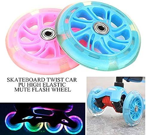 1 St/ück LED Beleuchtung Scooter Lichtrad Ersatzrad Roller mit Lampe LIAWEI Skateboard-Rad PU Blinkrad Shining Wheel f/ür Single Warping Slide Longboard Durchmesser 120 mm