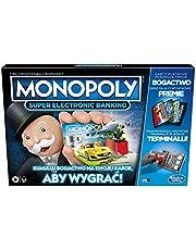 Gra planszowa Monopoly Super Electronic Banking; elektroniczny terminal; wybierz swoje nagrody; gra bez gotówki; technologia zbliżeniowa; wiek: od 8 lat.