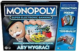Gra planszowa Monopoly Super Electronic Banking; elektroniczny terminal; wybierz swoje nagrody; gra bez gotówki;...