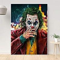 Posters Friends Graffiti Art Movie Joker Smoking Canvas Painting Arte de la Pared Carteles e Impresiones para la Sala Imágenes de la Pared Decoración de la Pared del hogar 50X70CM Sin Marco