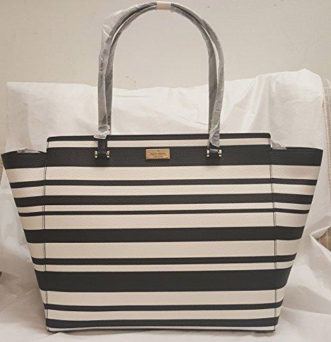 Kate Spade WKRU4052 181 Annelle Arbour Hill Printed Striped Tote Bag