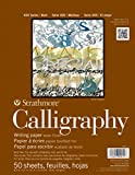 Strathmore STR- 50 Sheet Tape Bound Calligraphy Pad, 8.5 by 11'