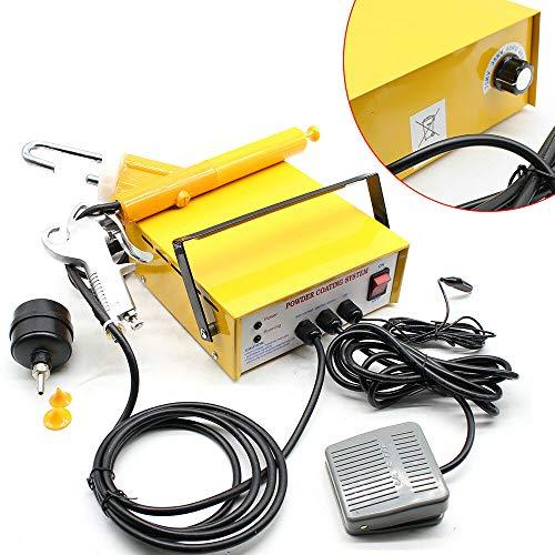 220V Pulverbeschichtungsgerät Lackierpistole 10-15 PSI Powder Coating paint Farbspritzpistol 3,3 W,mit 2 x Plastikflaschen,pulverbeschichten pulver set