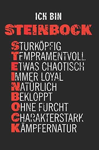 Ich Bin Steinbock: A5 Notizbuch für Sternzeichen Steinbock als Geschenk