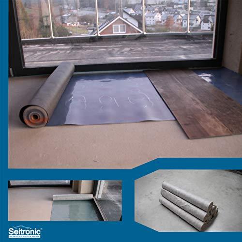 Vinyl Trittschalldämmung - 1,5 mm Starke Unterlage für Voll Vinylböden und LVT-Böden ohne Trägerplatte - Tritt & Gehschalldämmung