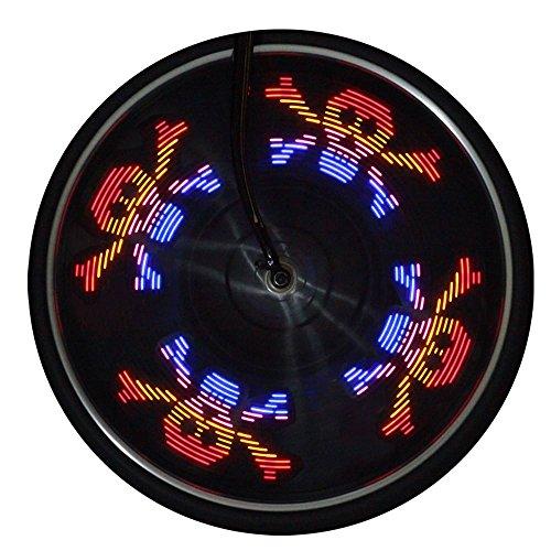 Marxways Fahrrad-Speichenlichter Radsignal-Reifen-Speichen-LED-Lichter Dekorationslichter Sicherheitsreifenlichter für Kinder Erwachsene, sehr hell, Auto & Manueller Doppelschalter, 42 Muster