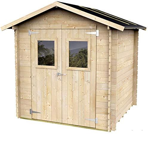 Casetta In Legno Per Attrezzi con porta doppia finestrata Olivia 198 x 198 cm