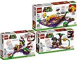 bundle lego® super mario™ 71381 71382 71383 - set di 3 pezzi per incontrare il cane a catena + sfide di piante piranha + pompa velenosa