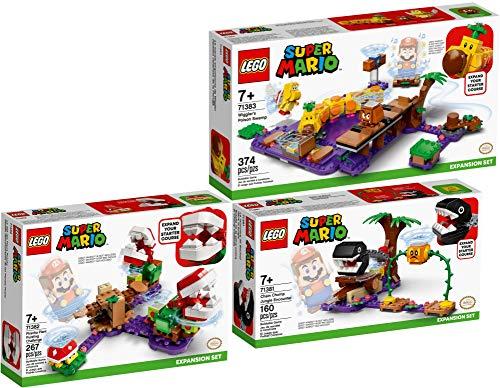 Bundle Lego Super Mario 71381 71382 71383 - Juego de 3 encuentros con el perro cadena + desafío de plantas piranha + Wigglers Giftsumpf
