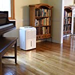 Ivation 4,500 sq ft energy star dehumidifier, large capacity compressor dehumidifier includes programmable humidistat… 12 this compressor dehumidifier keeps spaces up to 4,500 sq. Ft. Cool & comfortable by removing 50 pints of moisture/day (70 pint according to the old doe standards, in 2019 this was classified as 70 pint and it now needs to be classified as 50 pint but it removed the same moisture as the old 70 pint) built-in humidity sensor - the lcd accurately displays the current humidity level in the room, enabling you to set your ideal levels for automatic moisture control low maintenance & easy operation; simply plug-in, select settings & empty 2. 25 gallon reservoir
