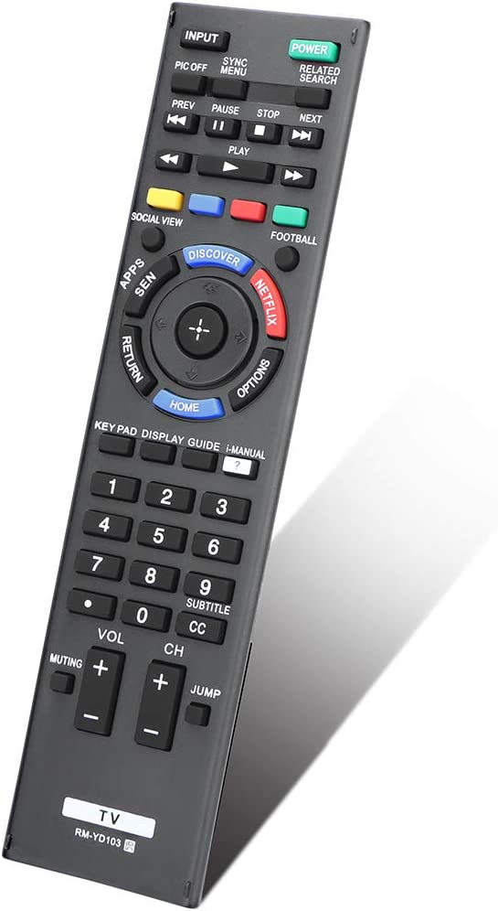 Gvirtue Universal Replacement Remote Control for Sony RM-YD102 RM-YD103 Bravia HDTV LCD LED 3D Smart TV