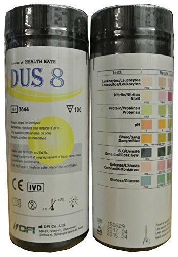 100 x 8 parameters professioneel/GP instellen multisticks urine strips teststick strips – PH/glucose/keton/lever & nieren infecties.