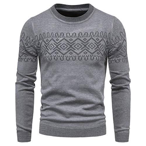 SLYZ Neue Herrenpullover European Code Herren Rundhalsausschnitt Langarm Mode Lässig Herrenpullover All-Match Bottoming Shirt