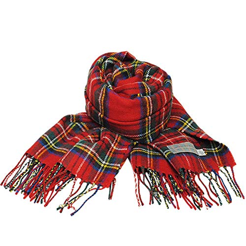 (ロキャロン) Lochcarron of scotland英国スコットランド製 タータンチェック柄 ラムズウール100% 大判ス...