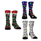 3 Pairs Imposter Socks Among with Us Game Crew Socks for Adult Kids Cute Novelty Gift Party Supply