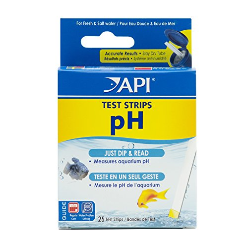 API 5-IN-1 TEST STRIPS Zoetwater en Zoutwater Aquarium Test Strips, PH, 25 Strips