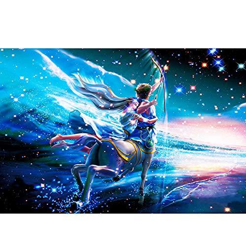 FFYUGO 12 Constelación de Madera Puzzles Adultos (520 Piezas) Acuario, Piscis, Aries, Tauro, Géminis, Cangrejo, Leo, Virgo, Libra, Escorpio, Sagitario, Capricornio, Puzzle, Decoración,Sagittarius