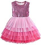 VIKITA Toddler Girls Dresses Sequin Heart Short Sleeve Girl Dress for Kids 3-8 Years SH4597, 6T