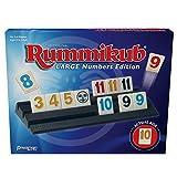 Pressman Rummikub Large Numbers Edition - The Original Rummy Tile Game Blue, 5'