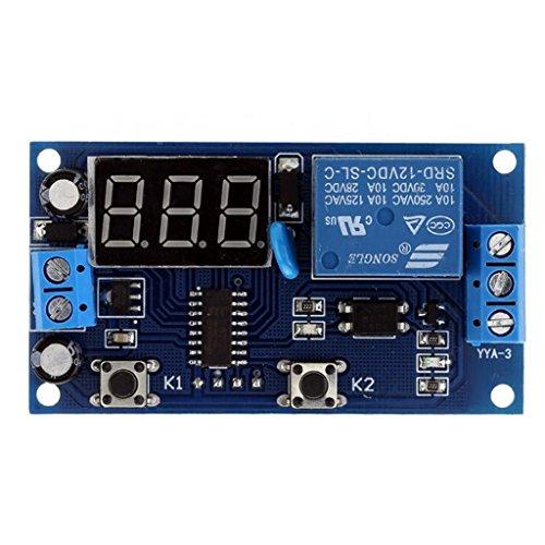 Milageto Interruptor de Control del Temporizador de Retardo de Automatización del Hogar LED DC5V