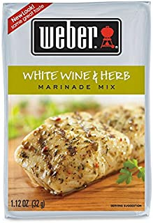 Weber White Wine and Herb Marinade Mix, 1.12 Ounces, Pack of 4